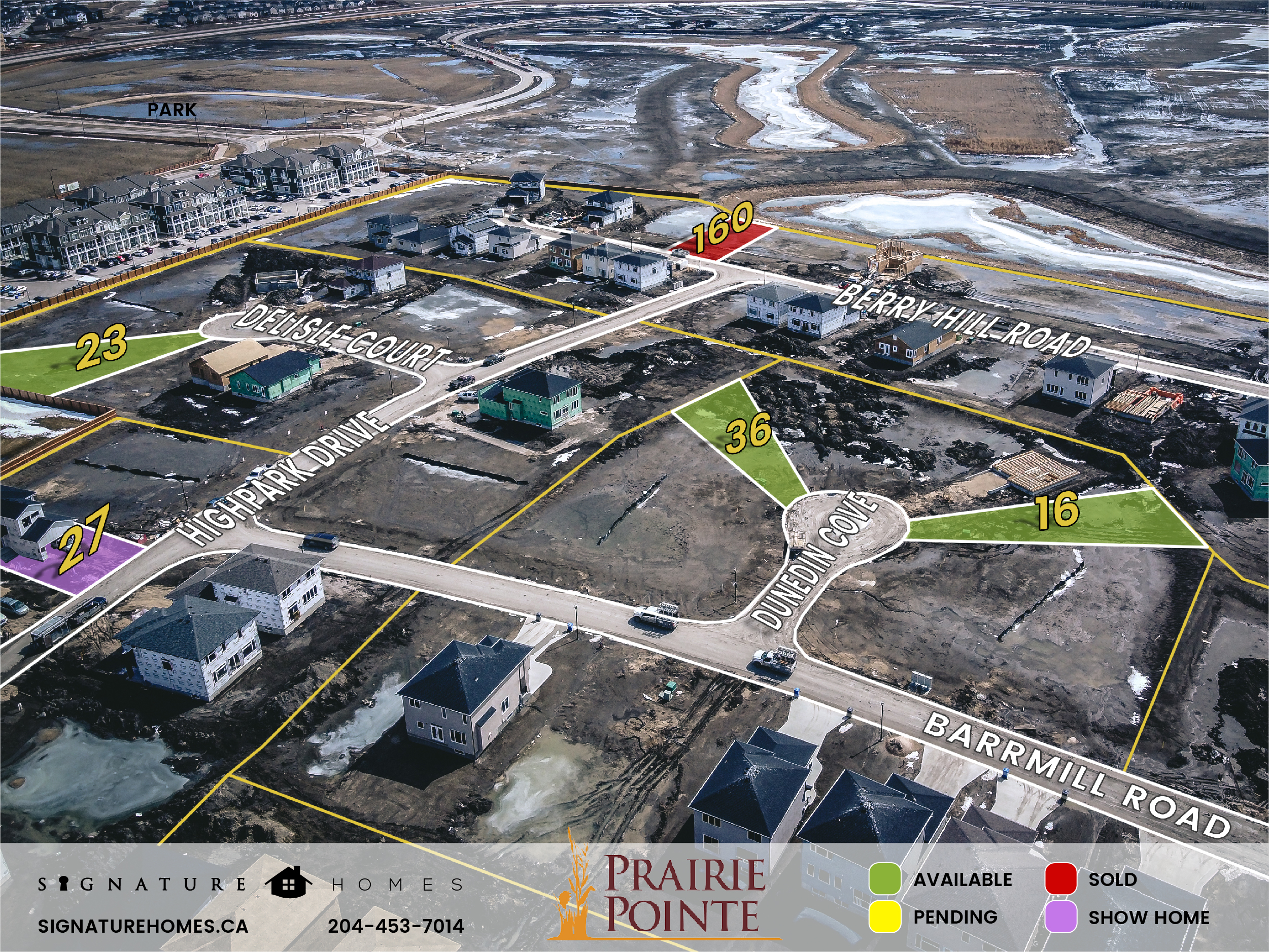 Prairie Pointe Phase 3 Map, Signature Homes, Winnipeg Manitoba