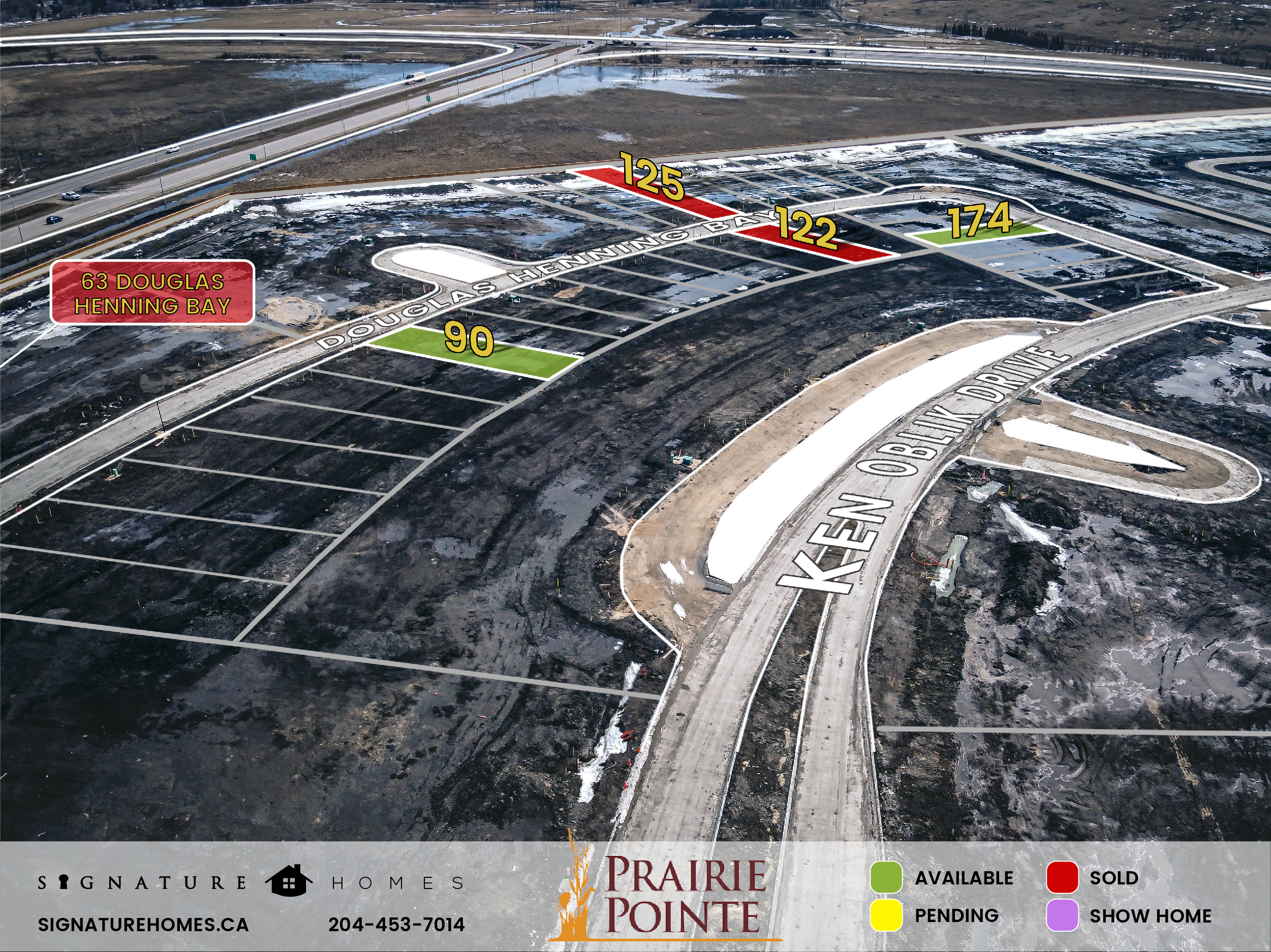 Prairie Pointe Phase 4 Map, Signature Homes, Winnipeg Manitoba